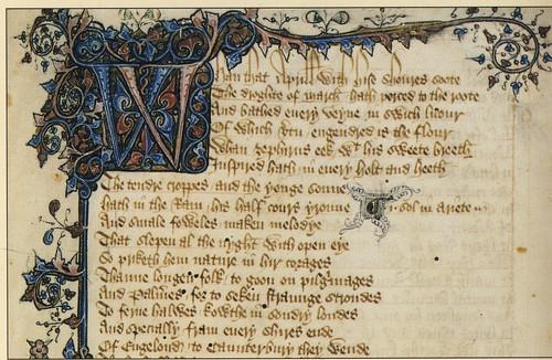 Illuminated text written in Old English