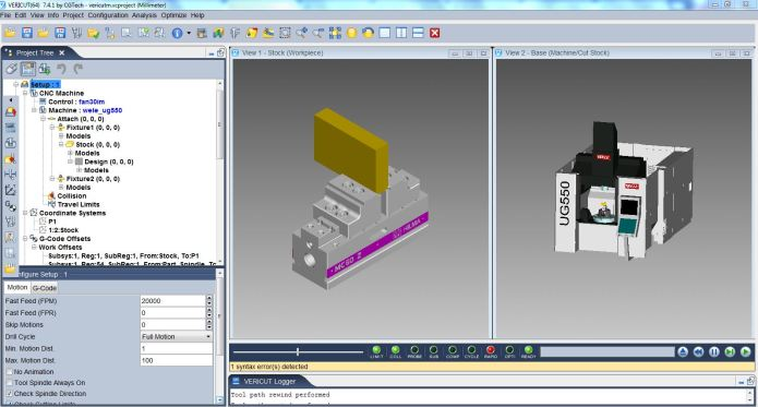 Machining with Vericut 7.4.1