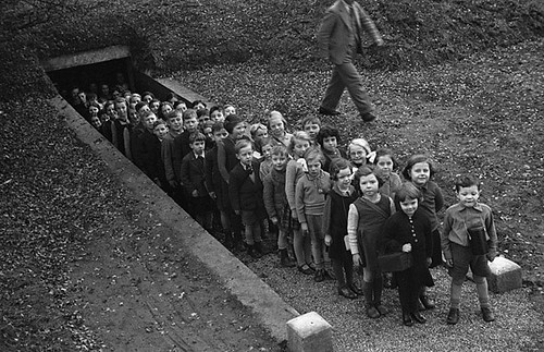 Children Outside Air Raid Shelter Gresford Flickr