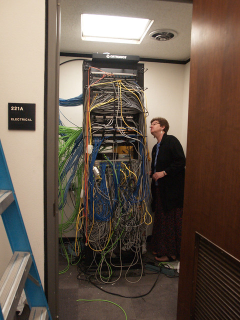 Network Routing Rack In Electrical Closet Flickr Photo