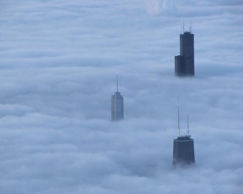 fog blankets chicago