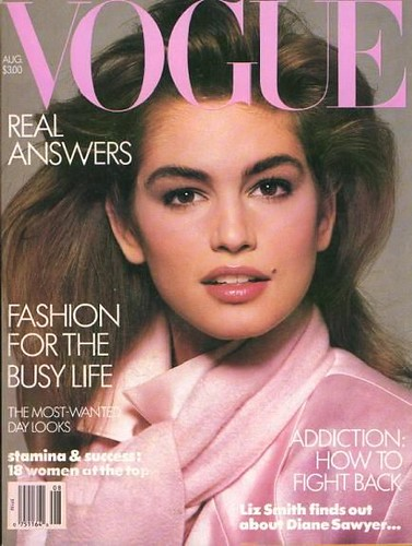 Cindy Crawford young Vogue Magazine Photo