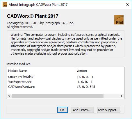 Information about Intergraph CADWorx V2017 17.0.0 SPLM2012 full version
