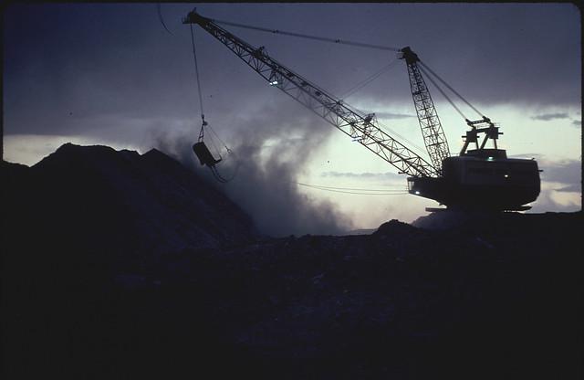 Strip Mining at Night on Moenkopi Wash