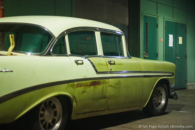 1956 Chevy Bel Air rear angled
