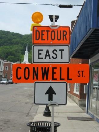 Detour Conwell St.