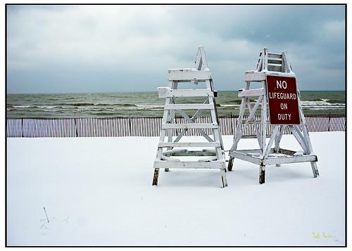 No Lifeguard On Duty, Lake Michigan
