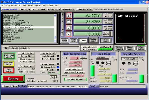 working with Mach3 R3.043.053 full license