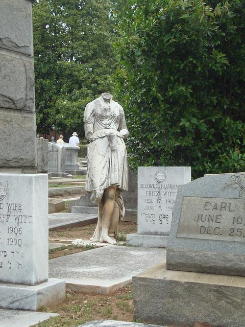 Damaged Statue Monument, Oakland Cemetery, Atlanta GA
