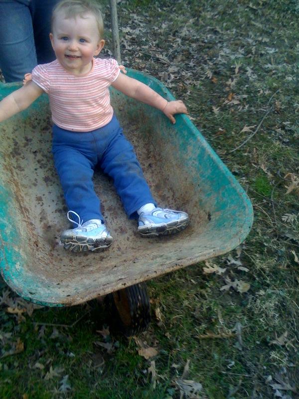 wheelbarrow ride!