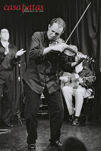 David Moreira y su violín en Casa Patas. Foto: Martín Guerrero