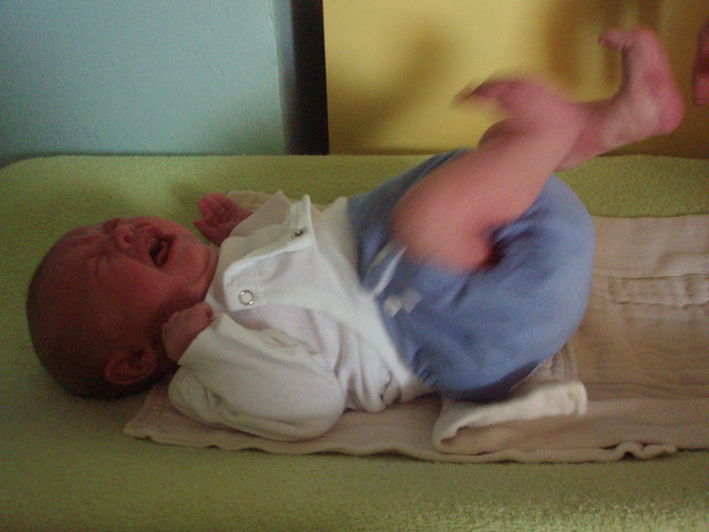 Ridiculously overstuffed diaper