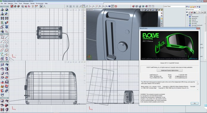 working with solidThinking Evolve 2017.2.1 build 8097 full