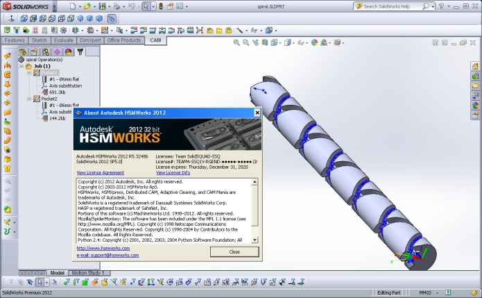 Programing with HSMWorks 2012 R5.32486 for SolidWorks 2010-2012 x86+x64