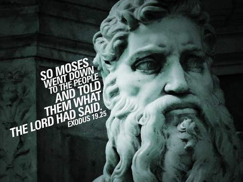 The  words of Exodus 19:25