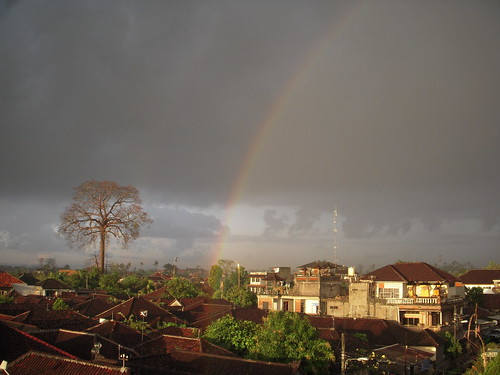 Rainbow view from my kost