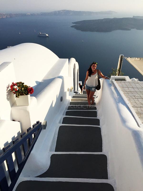 Escaleras laberínticas en Imerovigli | Santorini | ClickTrip.ES
