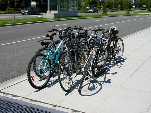 Bike rack at Langara 49th