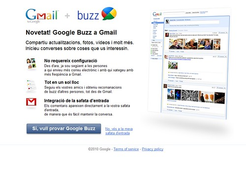 Novetat! Google Buzz a Gmail
