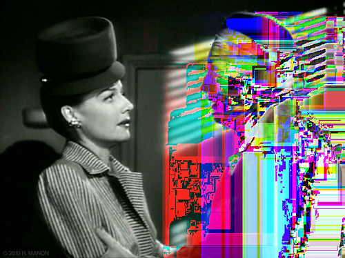 Glitch Art: It's my duty to defend you, but I can't do anything for you unless you talk to me.