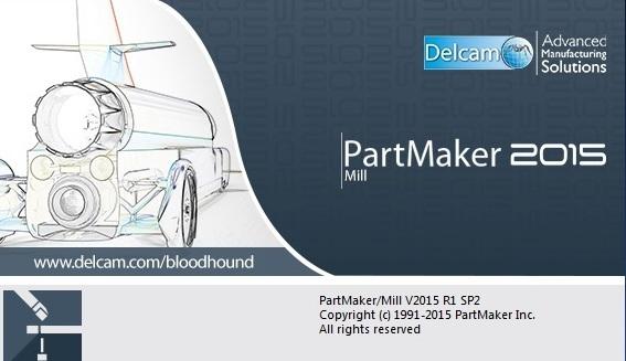 Delcam PartMaker 2015 R1 SP2 x86 x64