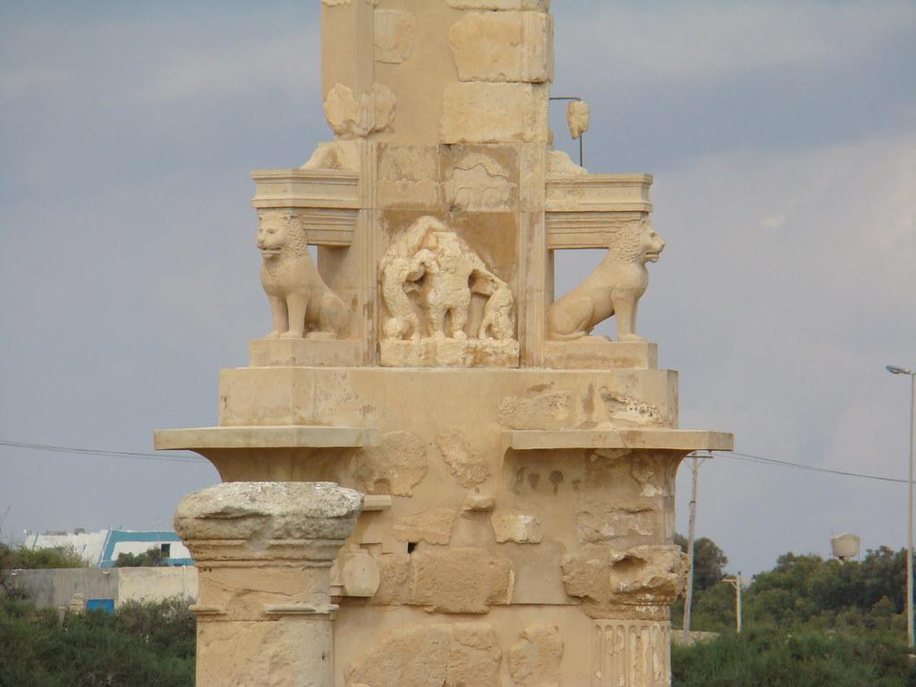 Sabratha Mausoleo de Bes Libia 04