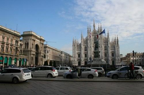 20091112 Milano 21 Piazza del Duomo 03 Duomo di Milano e Galleria Vittorio Emanuele II