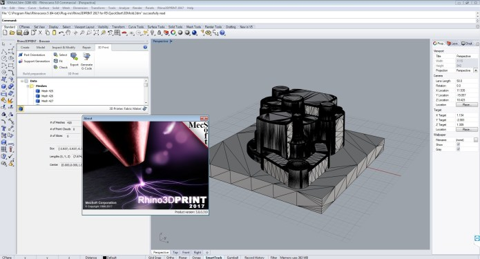working with MecSoft Rhino3DPrint 2017 v3.0.319 for Rhino5 Win64