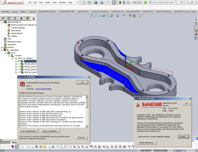 SolidCAM 2015 SP4 HF5 Multilang for SolidWorks 2012-2017 full license