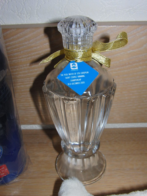 A bottle of pool water from Istanbul 2009