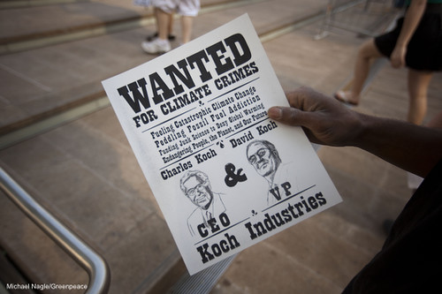 Koch Wanted Poster