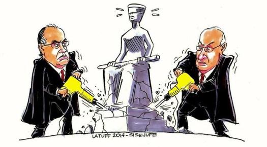 A Justiça no Brasil - Créditos: Carlos Latuff/ Sindicato dos Servidores do Judiciário Federal