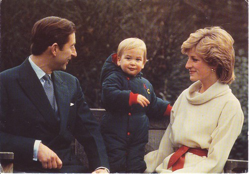 Prince Charles, Princess Diana and little Prince William