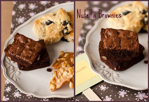 Nutella brownies collage