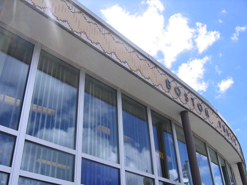 Roslindale branch BPL and the blue sky