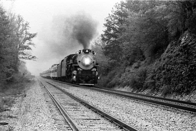 C & O 2716 2-8-4 in Southern excursion service
