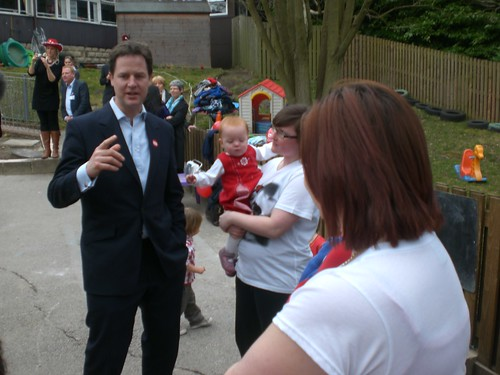 Nick Clegg, Lodge Moor Nursery School, Sheffield