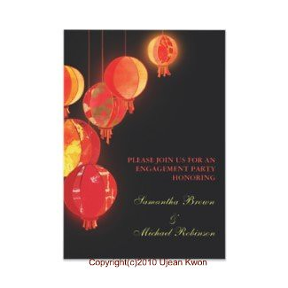 Red Lanterns: Custom Engagement Invitation