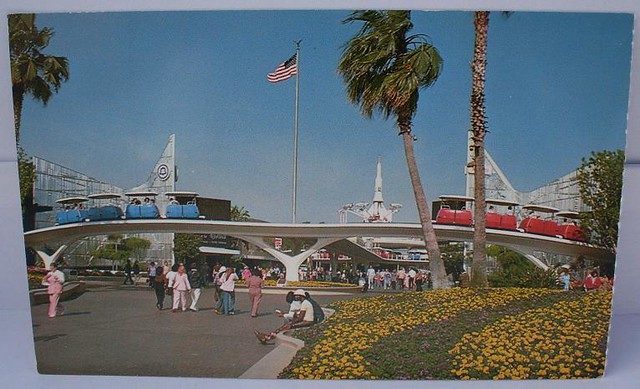 "Vintage Postcard ""Disneyland - Tomorrowland Entrance"""