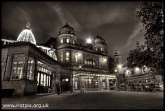 Buxton Edwardian Opera House At Dusk, Derbyshire, UK