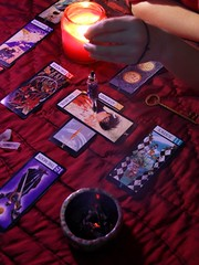 tarot candle photo