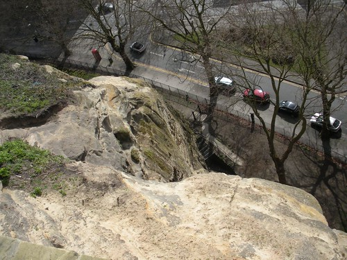 looking down from Nottingham Castle