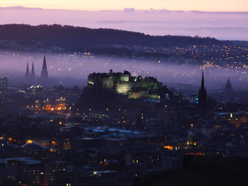Hazy Twilight over Edinburgh