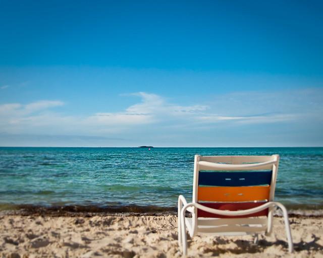 Beach chair on Serenity Bay