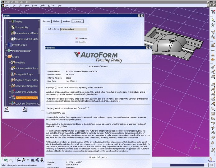 AutoForm^Plus R5.2.0.11 with catia full license