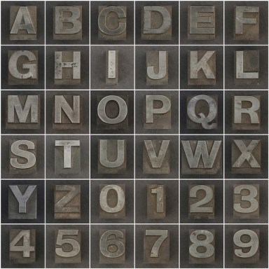 """""""Caslon metal type letters and numbers"""" di Leo Reynolds"""