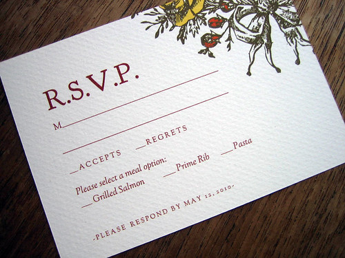 Monogram printable wedding response card