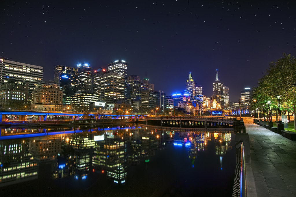'Night Life' Australia, Melbourne, Skyline at Night