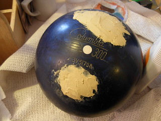 Bowling Ball Puttied Up