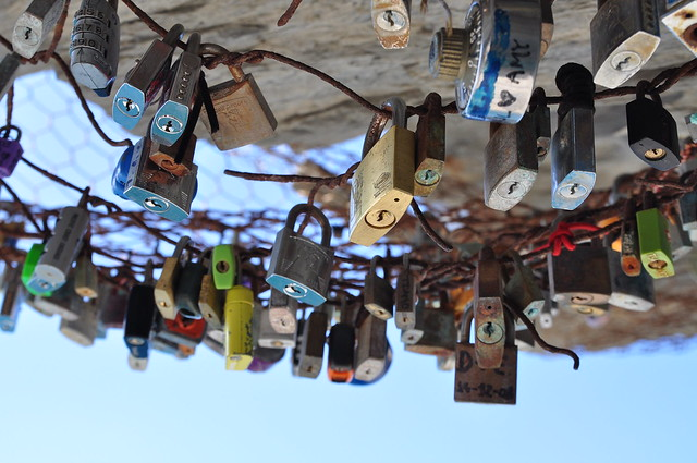 Love locks in Italy.